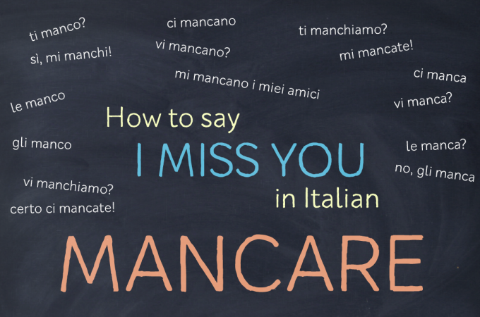 How to say I MISS YOU in Italian
